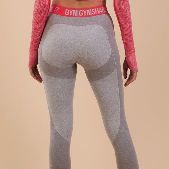 24ce00a98ebb51 Gymshark Pants   Flex Leggings V3 Light Greypink Large   Poshmark